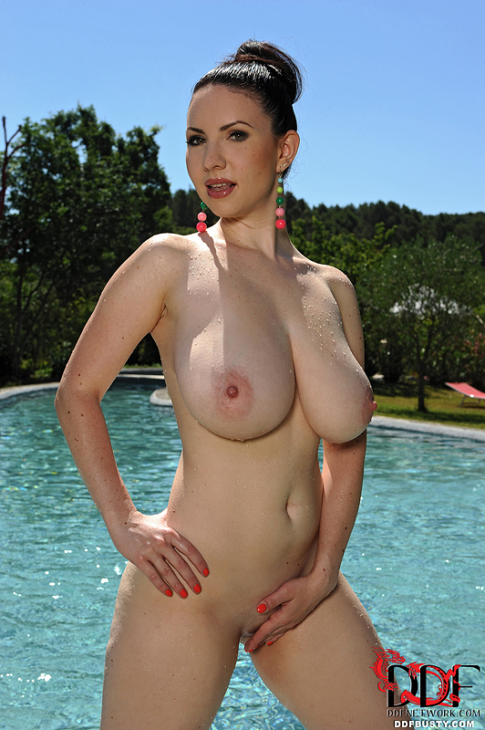 Apologise, but, big natural tits by pool