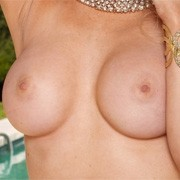 Alexis Ford Topless at the Pool