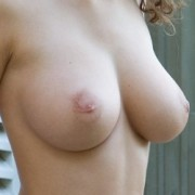 Susann Shows Her Big Tits on the Porch