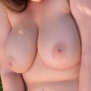 Cute Busty Girl Shows Her Tits in the Park
