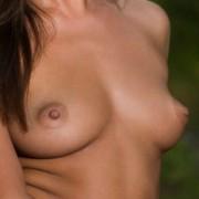 Arina Nude on a Stool