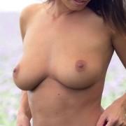 Natalie Costello Strip in a Field!