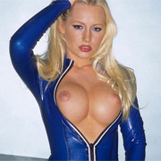Hot Blonde in Blue